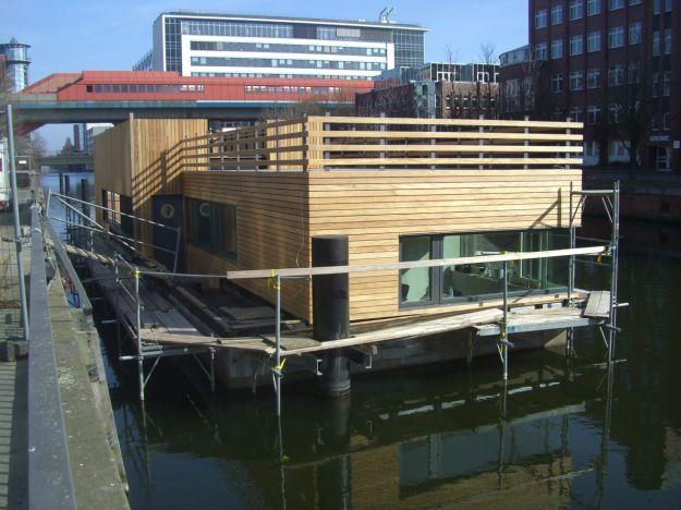 Norderkai Hausboot im Bau 01