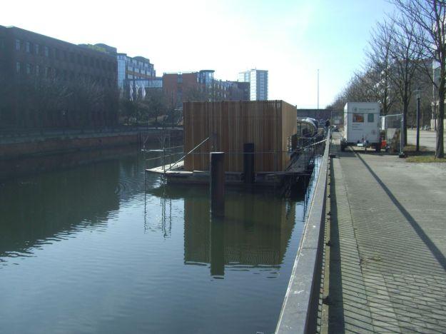 Norderkai Hausboot im Bau